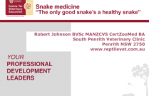 Snake Medicine - The Only Good Snake is a Healthy One