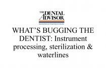 What's Bugging the Dentist: Instrument Processing, Sterilization and Waterlines