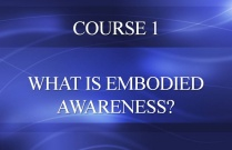 COURSE 1 - WHAT IS EMBODIED AWARENESS?