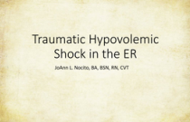 Traumatic Hypovolemic Shock in the ER