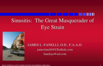 Sinusitis: The Great Masquerader of Eye Strain