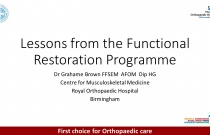 Functional Restoration Programme for Chronic Back Pain