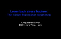 Lumbar Stress Fractures in Cricket