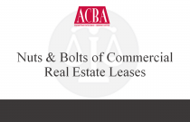 Nuts & Bolts of Commercial Real Estate Leases - Recorded: 06/18/14