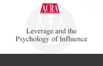 Leverage and the Psychology of Influence - Recorded: 06/25/14