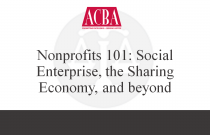 Nonprofits 101: Social Enterprise, the Sharing Economy, and beyond - Recorded: 04/01/15