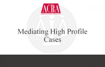 Mediating High Profile Cases - Recorded: 07/08/15