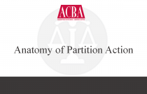 Anatomy of a Partition Action - Recorded: 09/24/15