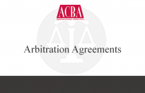 Arbitration Agreements - Recorded: 11/08/15