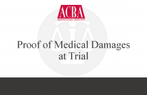 Proof of Medical Damages at Trial - Recorded: 03/24/16