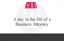 A Day in the Life of a Business Attorney - Recorded: 08/10/16