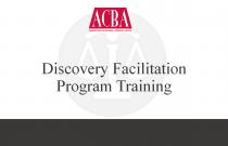 Discovery Facilitation Program Training - Recorded: 06/18/15