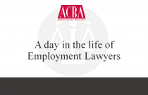 A Day in the Life of Employment Lawyers -  Recorded: 08/09/16