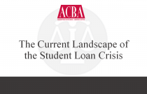The Current Landscape of the Student Loan Crisis - Recorded: 10/07/15