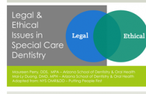 Module 2: Legal & Ethical Issues in Special Care Dentistry