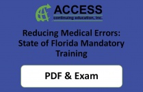 Reducing Medical Errors: State of Florida Mandatory Training