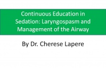 Continuous education in sedation: Laryngospasm and management of the airway