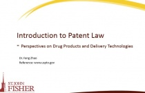 Introduction to Patent Law - Perspectives on Drug Products and Delivery Technologies