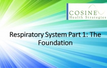 Respiratory System Part 1: The Foundation