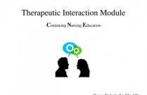 Therapeutic Interaction Module