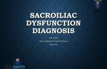 Sacroiliac Joint Dysfunction - Diagnosis