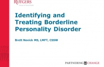 Identifying and Treating Borderline Personality Disorder