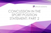 Concussion in the Sport Position Statement: Part 2