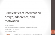 Practicalities of intervention, adherence and motivation