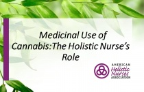 Medicinal Use of Cannabis: The Holistic Nurse's Role