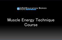 Muscle Energy Technique Course