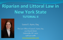 Riparian and Littoral Law Tutorial 2