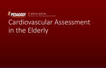 Cardiovascular Assessment in the Elderly