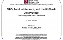 SIBO, Food Intolerance, and the Bi-phasic Diet Protocol