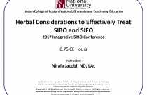 Herbal Considerations to Effectively Treat SIBO and SIFO