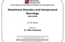 Attachment Disorders and Interpersonal Neurology