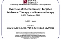Overview of Chemotherapy, Targeted Molecular Therapy, and Immunotheray