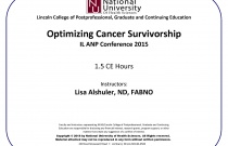 Optimizing Cancer Survivorship