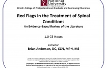Red Flags in the Treatment of Spinal Conditions