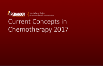 Current Concepts in Chemotherapy 2017