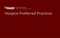 Hospice Preferred Practices