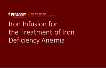 Iron Infusion for the Treatment of iron Deficiency Anemia