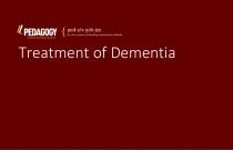Treatment of Dementia