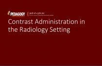 Contrast Administration in the Radiology Setting