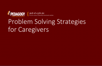 Problem Solving Strategies for Caregivers