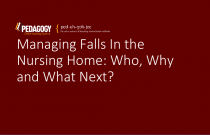 Managing Falls In the Nursing Home: Who, Why and What Next?