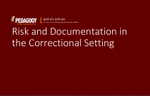 Risk and Documentation in the Correctional Setting