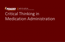 Critical Thinking in Medication Administration