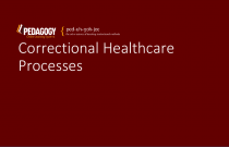 Correctional Healthcare Processes