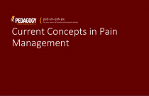 Current Concepts in Pain Management