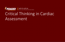 Critical Thinking in Cardiac Assessment